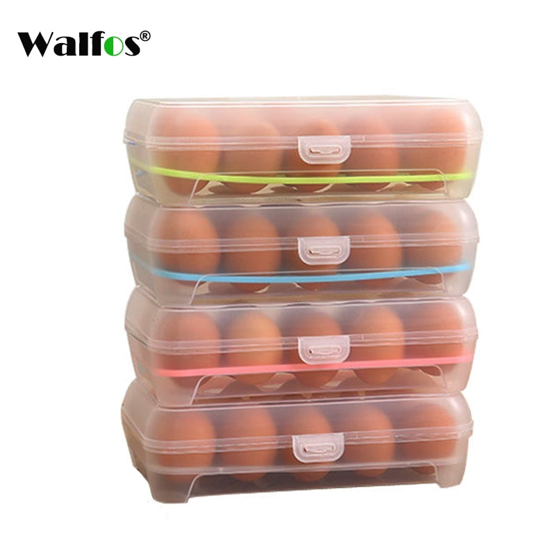 1 шт., пищевой пластиковый ящик для хранения яиц в холодильнике, держатель для 15 яиц, контейнер для хранения еды, органайзер для яиц