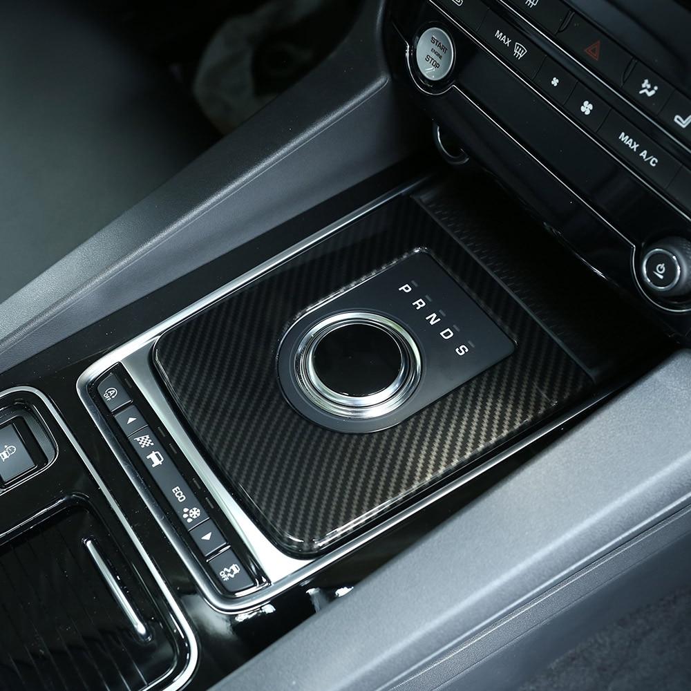 Para Jaguar f-pace X761 XE X760 XF X260 coche ABS consola Central engranaje cambio marco cubierta ajuste carbono fibra de accesorios