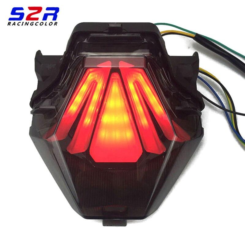 Интегрированный Светодиодный стоп-сигнал для YAMAHA, стоп-сигнал поворота, мигалка, красный тормоз EXCITER150, YZF, R25, R3, 1/2/3/3