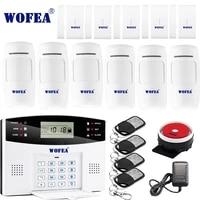 Wofea     Systeme dalarme de securite domestique sans fil  GSM  controle par application iOS Android  interphone bidirectionnel  notification de desactivation par SMS  livraison gratuite