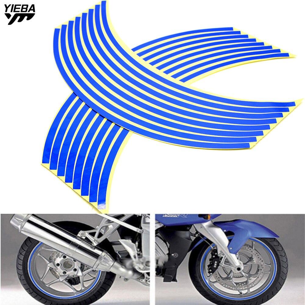 Rueda etiqueta reflectante franja de llanta cinta vehículo motocicleta 17 18 pulgadas para BMW S1000RR S1000R R1200GS F650GS F800GS F800R F700GS