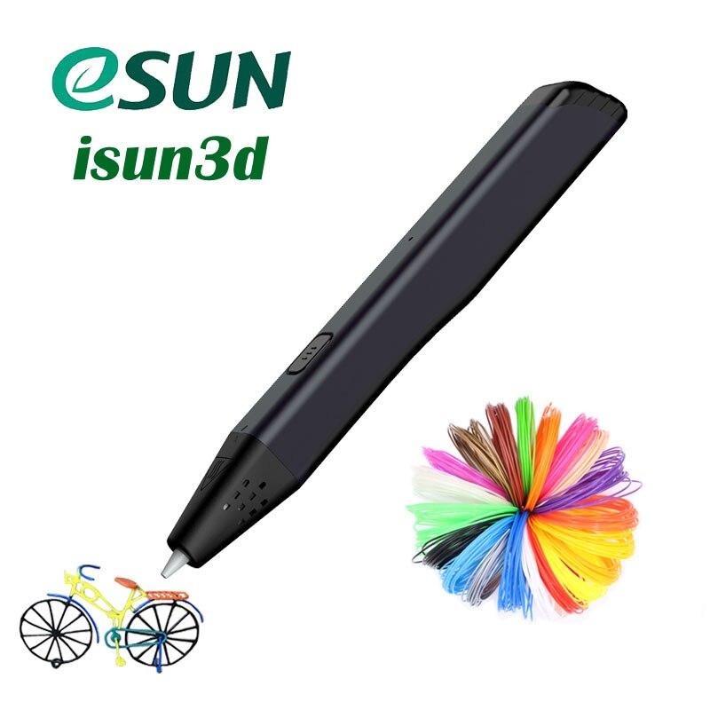 Bolígrafo de impresión 3D, bolígrafos técnicos 3D para dibujar, modo 3D, recarga de filamentos PCL disponible, bolígrafo de dibujo dorado