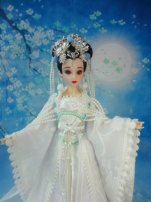 32 cm Handgemachte Alte Chinesische Mädchen Puppen Sammeln Change Puppe Traditionellen Puppe Joint Körper Modell Spielzeug Für Kinder Kinder