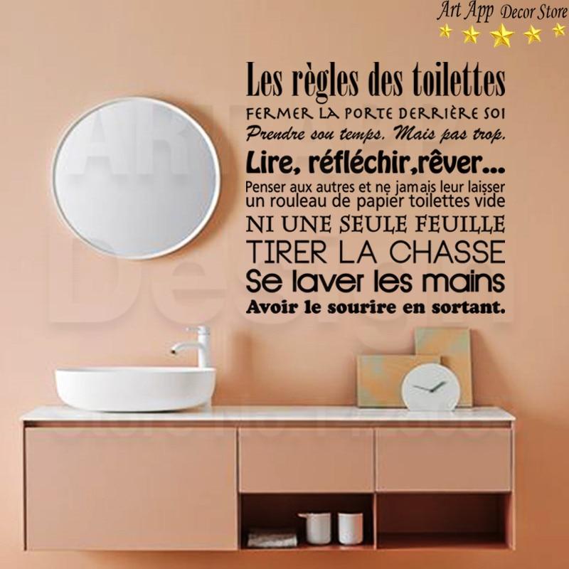 Виниловые наклейки для дома, новый дизайн, французский стиль, для мытья комнаты, со стикерами, Съемный Декор для дома, для туалета
