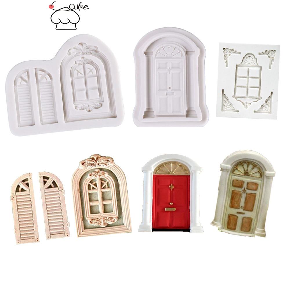 Декоративные Формочки Aouke для дверей и окон, силиконовая форма для торта, сахарной пасты, конфет, шоколада, для мастики и глины