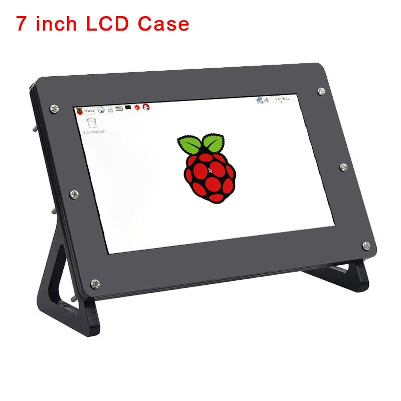 7 inch LCD Holder Screen Case for Raspberry Pi Display Acrylic Bracket for RPI Monitor Support Raspberry Pi 4 Model B / 3B+ / 3B
