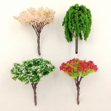 min order $10, Mini world landscaping decorative micro mini artificial cherry tree peach tree willow DIY accessories material