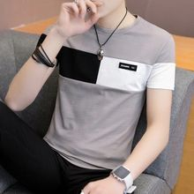 2021 new men t shirt casual short sleeve men's basic tops tees stretch t shirt mens clothing chemise homme