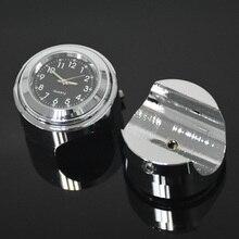 "Waterproof 7/8"" Chrome Motorcycle Handlebar Mount Quartz Clock Watch for Honda for Yamaha for Suzuki for Kawasaki"