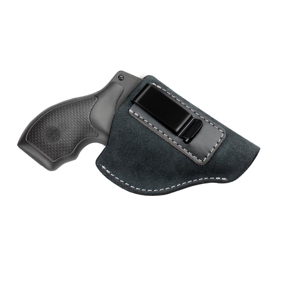 Kosibate Hunting Holster for J Frame Revolvers Taurus S&W Genuine Suede Leather Gun Holster Tactical Concealed Belt IWB Holster