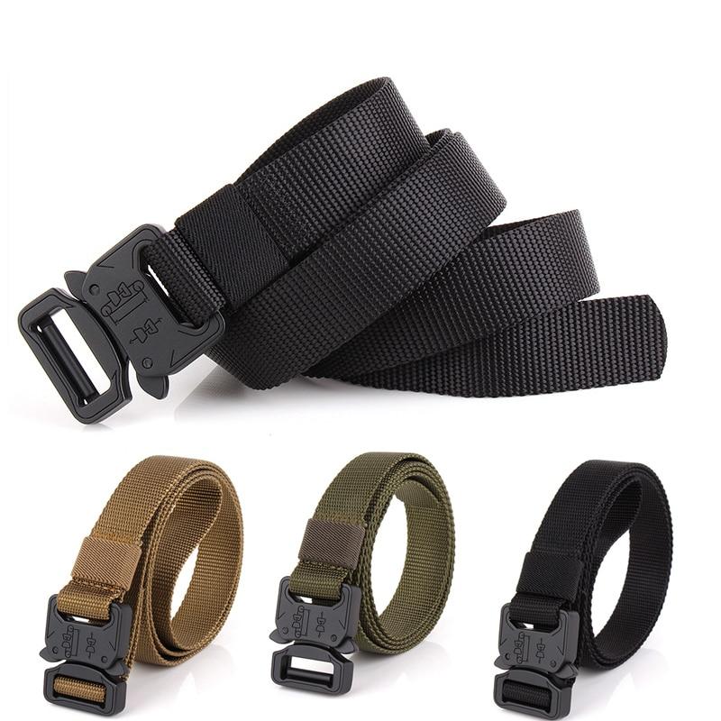 Militar militar táctico cinturón de Molle táctico de los hombres de aleación de Zinc de Safetuy broche conveniente abrir Quivkly 1000d Oxford cinturón de tela