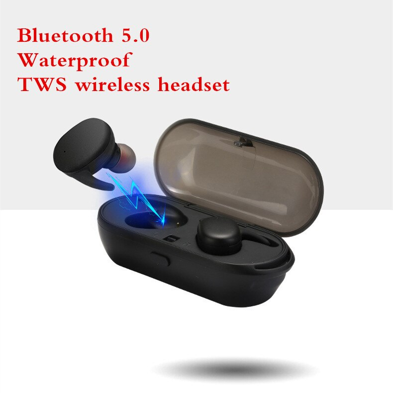 TWS Bluetooth 5,0 auricular Toque dos mini IPX5 impermeable auricular inalámbrico estéreo con Supergraves auriculares con micrófono para IOS andriod PC