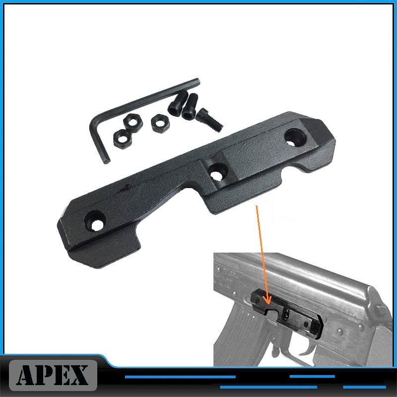 Placa lateral de cola de milano de acero AK47, AK-47 lateral de acero, alcance de cola de milano, Riel de montaje, modelo TL-M47SR, Envío Gratis