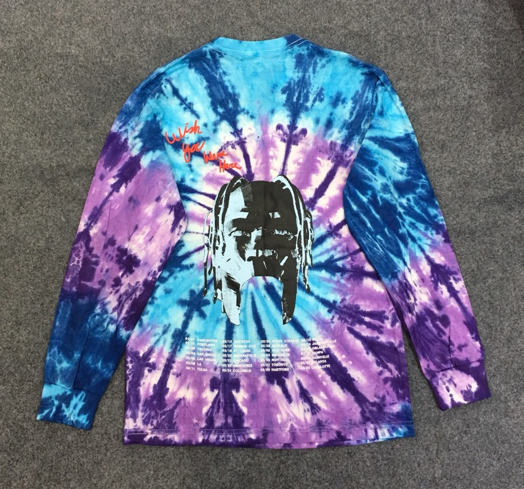 2019 travis scott astroworld travis scott impresso tie-dye moletom com capuz hiphop streetwear masculino camisola de grandes dimensões pulôver