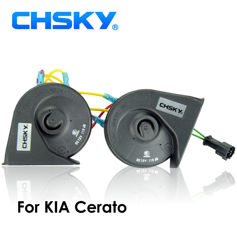 CHSKY cuerno de coche bocina tipo Caracol para KIA Cerato 2003 a 2018 12V volumen 110-129db de cuerno largo tiempo de vida alta baja y Klaxon