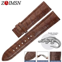 zlimsn south america crocodile leather watch band belt 14 24mm genuine alligator leather watchband suitable for omega longines