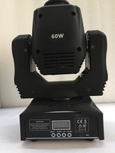 China lieferant led mini 60 W moving head strahl spot licht led gobo dmx dj beleuchtung für party sieben gobo mit rotation disco bühne
