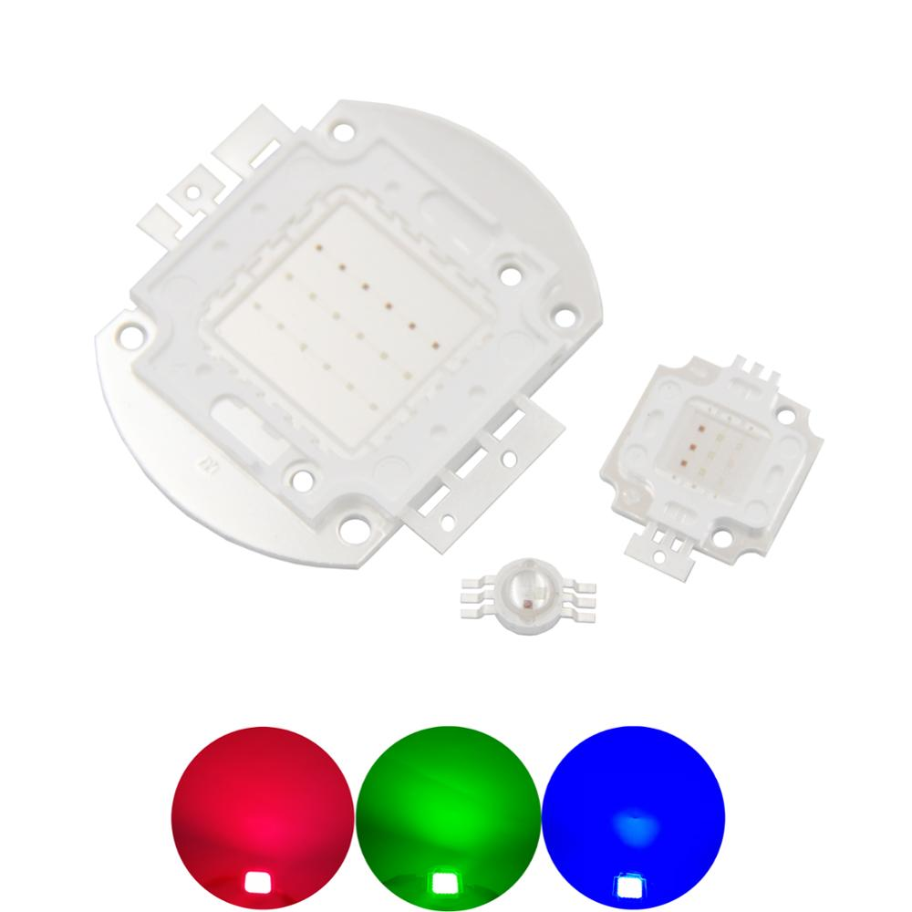 Alto lumen RGB cob led Epistar Genesis rojo verde azul 3W 10W 18W 30W 48W luz ajustable LED COB atenuación bombilla fuente de luz lámpara