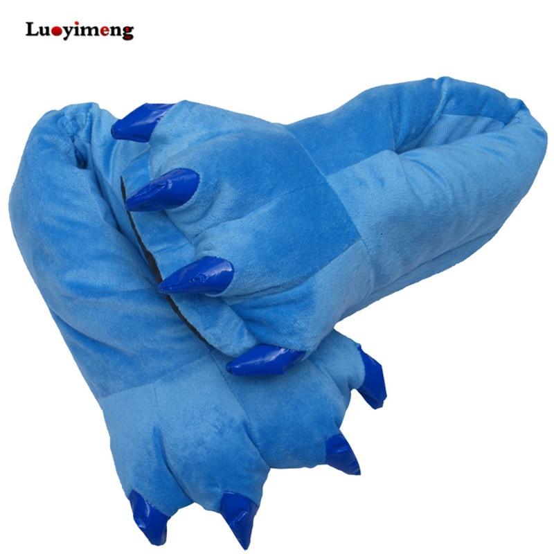 Stitch Animal Paw Slippers For Boy Girl Unisex Kids Cute Monster Claw Slippers Cartoon Soft Plush Wa