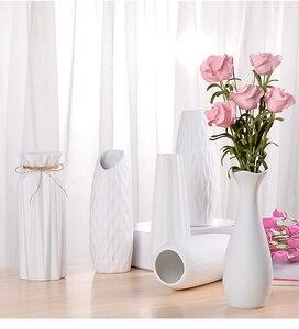 Tabletop Vase Ceramic vase small fresh flower arrangement simple white modern Nordic living room home decoration ornaments