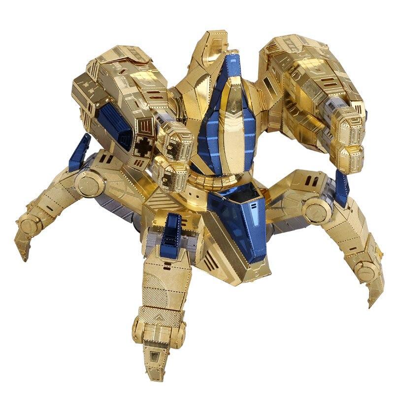 MU 3D Metal figura de puzle estrella Craft 2 Protoss inmortal modelo montar rompecabezas 3D modelos de juguetes para los niños