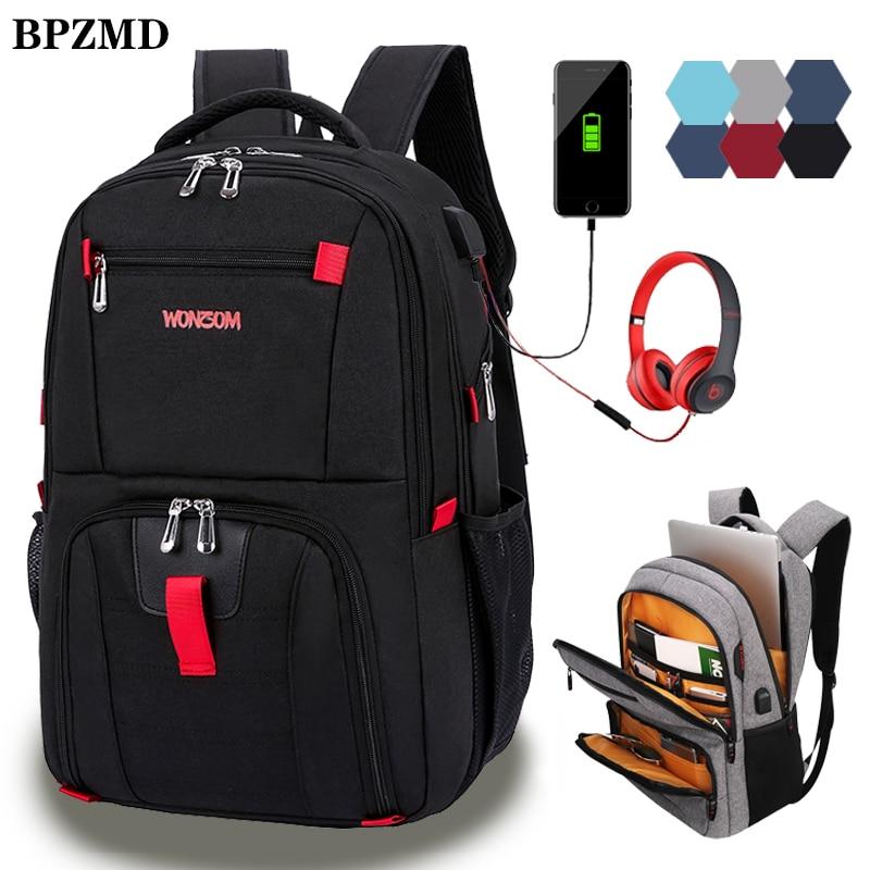 Oxford Swiss Multifunctional Men Laptop Backpack sleeve case bag Waterproof USB Charge Port Schoolbag Hiking Travel bag Rucksack