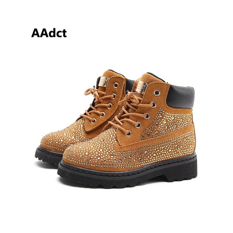 AAdct herbst neue mode Strass mädchen stiefel Marke Hohe qualität kinder stiefel Allgleiches prinzessin kinder stiefel für mädchen
