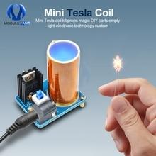 BD243 Mini Tesla Coil Kit puntelli magici parti fai-da-te luci vuote tecnologia elettronica fai-da-te BD243C modulo Mini bobina Tesla fai-da-te