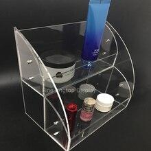 Acrylique cosmétique organisateur mallette de rangement support affichage pour pinceaux, parfums, produits de soin de la peau, vernis à ongles, bijoux lunettes de soleil
