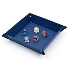 1pc PU Organizer Box Bins Valet Coin Key Tray Dice Rolling Tray for Serving Key Jewelry  PU Leather Storage Box Tray