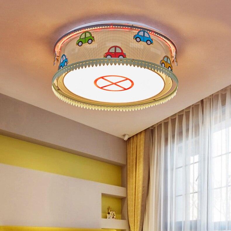 arte moderna deco luz de teto do carro criativo lampadas led para o menino criancas