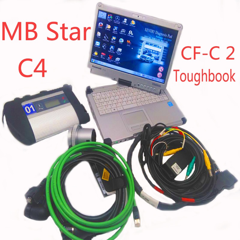 Новинка 2019 09 программное обеспечение forMB Star SD Connect C4 с ноутбуком CF C2 i5 для Dignosis