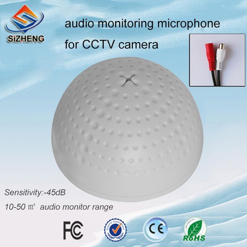 SIZHENG COTT-QD20S Ceiling audio CCTV microphone mini sound monitor for video surveillance systems
