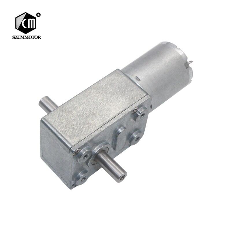 Diy Robot motorreductor 6 V-24 V 2RPM a 150RPM Full Metal caja de cambios de alto par doble salida ejes Motor de engranaje de tornillo sin fin