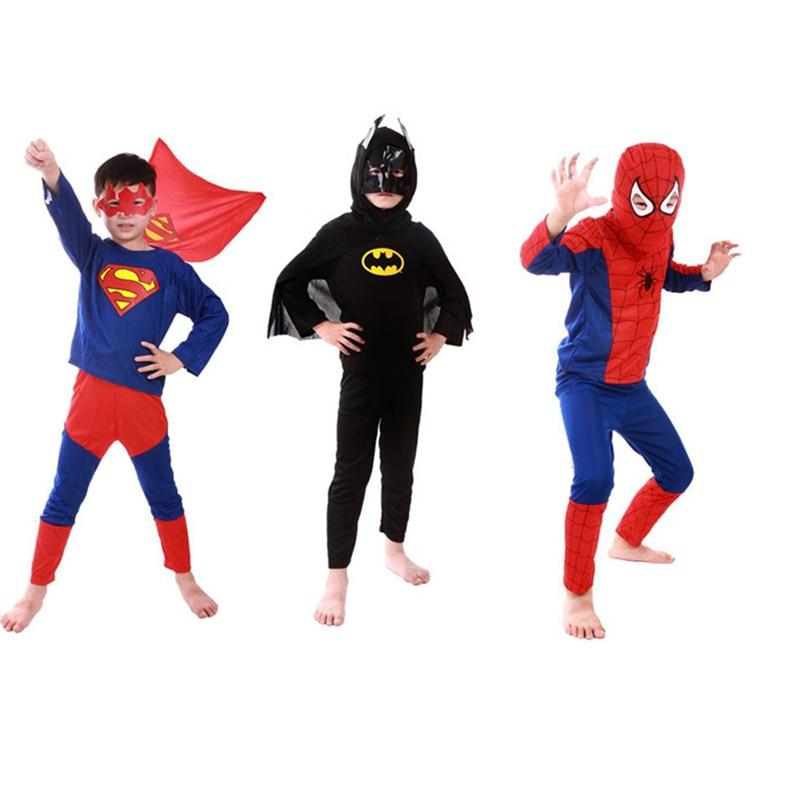 Halloween Baby Clothing Sets Boys Spiderman/Batman/Superman/Zorro Costumes Children Kids Cosplay Clothing Gift