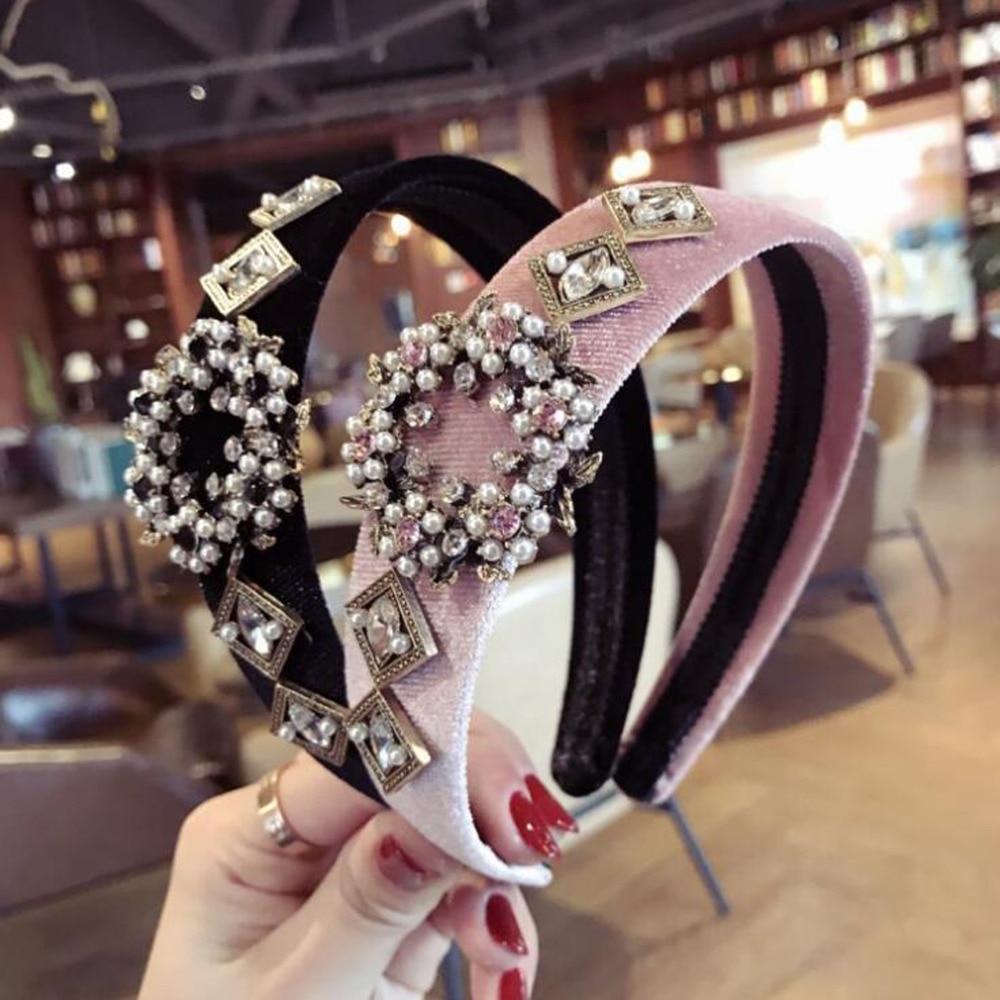 Diadema turbante fresca de moda para mujer, accesorios para el cabello de diamantes de imitación brillantes DIY de gama alta, diadema para el cabello para mujer, venta al por mayor