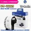 Imprimante Brother Compatible avec étiquette DK-22225 10 rouleaux 38mm x 30.48M en continu QL-570/700 tous livrés avec un support en plastique