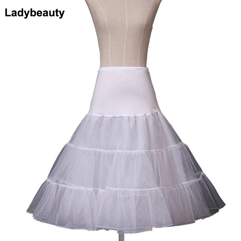 ¡Venta caliente! 2018 elástico cintura vestido de novia de boda Petticoat crinolina enagua vestido de boda rockabilly vestido enagua