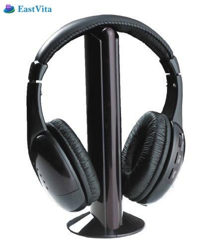 Auriculares inalámbricos EastVita, Auriculares bluetooth con cancelación de ruido, Juegos de ordenador, reproductor de MP3, TV, auriculares, micrófono, radio FM r25