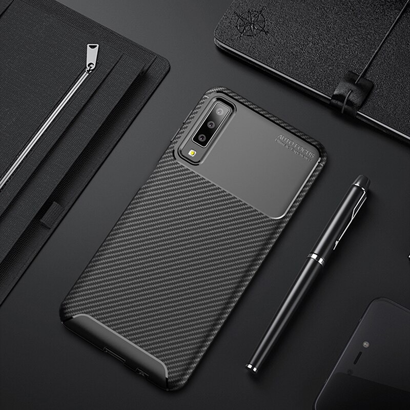 For Samsung Galaxy A7 2018 Case A750 Shockproof Soft Silicone Case for Samsung A70 A60 A50 A40 A30 A10 M30 M20 M10 Phone Cover >