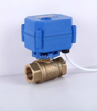 DN15 DN20 DN25 النحاس اتجاهين الكهربائية الكرة صمام CR01 CR02 CR03 CR04 CR05 DC5V 12V 24V AC220V بمحركات صمام للمياه