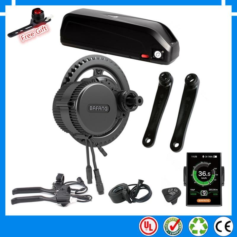 EU US No tax BBS02B BBS02 Bafang 48V 750W mid drive electric motor kit with 48V 52V 13AH 17.5Ah Li-ion down tube ebike battery