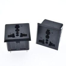 Prise de courant électrique UPS   Prise ca, entrée IEC universelle, EU AU UK en cuivre CE goupilles de soudure noires, 2 pièces