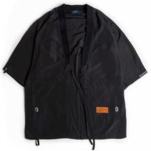 2019 Autumn Japanese Style Mens Harajuku Print Kimono Cardigan Jackets Casual Streetwear Jacket Coat Summer Thin Gown 8xl 9xl