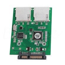 Convertisseur adaptateur OOTDTY New2 Port double SD SDHC MMC RAID vers SATA pour toute carte SD de capacité