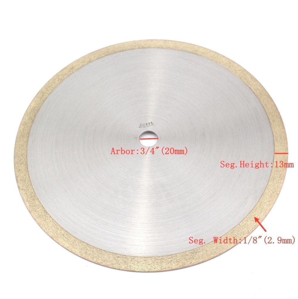100-400mm Glass Diamond Blade Saw Standard Wet Cutting Continuous ILOVETOOL