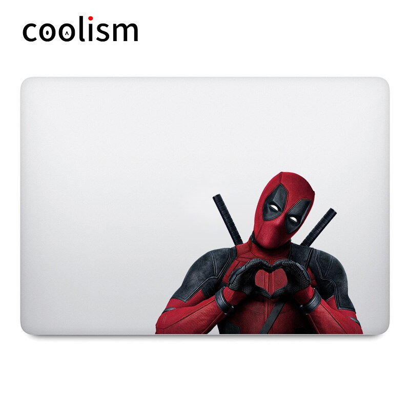 Pegatina para ordenador portátil con forma de corazón Deadpool para MacBook de Apple Air 13 Pro Retina 11 12 15 pulgadas Mac Mi libro de etiqueta