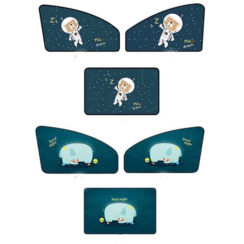 Cubierta Universal de dibujos animados para Coche magnético, parasol, cortina, parasol, visera para bebés y niños