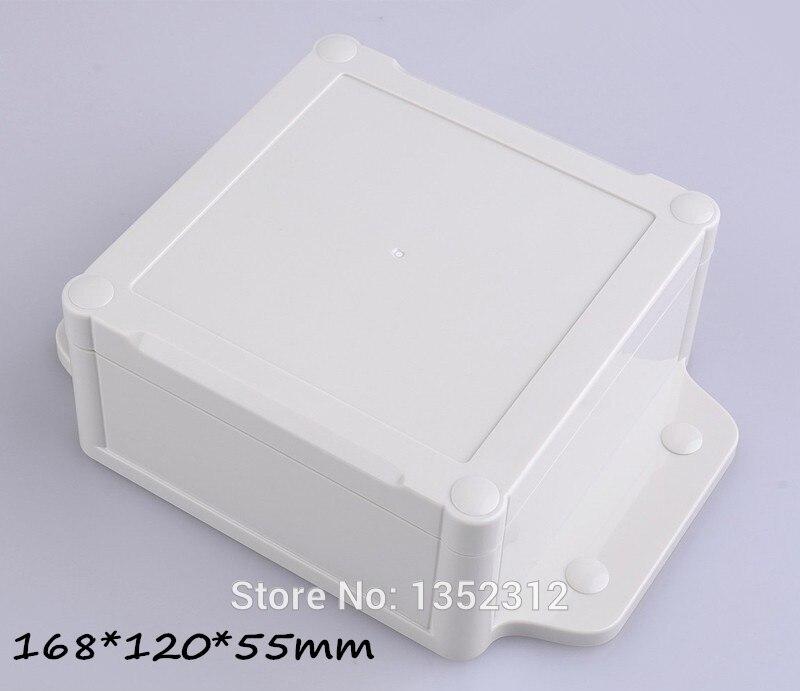 3 unids/lote 168*120*55mm IP68 caja de plástico impermeable montaje en pared caja de plástico orejas de la correa caja de empalme DIY caja de proyecto