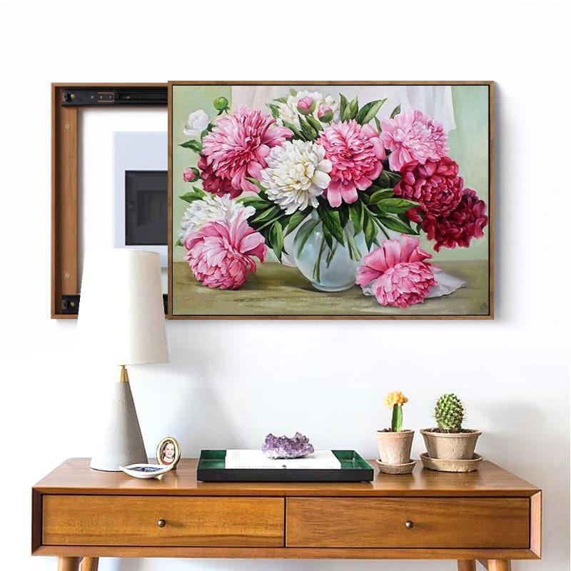 Meian, полная рукоделие, 40x50 см, вышивка, сделай сам, фруктовые цветы, вышивка крестиком, наборы, 14CT вышивка крестом, наборы вышивка, VS-29